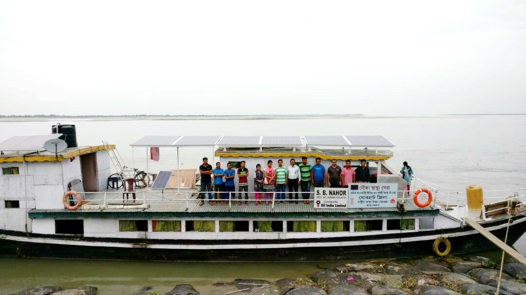 How solar-powered boat clinics help flood victims in Assam, India