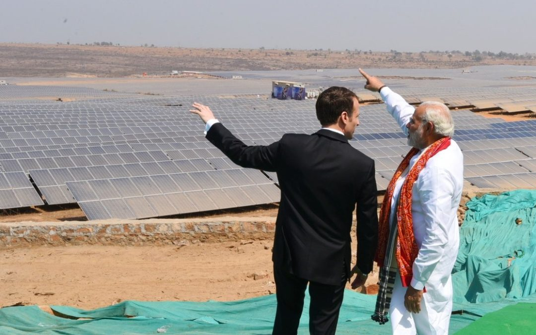 Modi, French President Macron launch UP's largest solar power plant