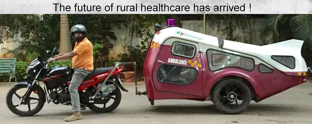 Solar ambulance Ambupod from India
