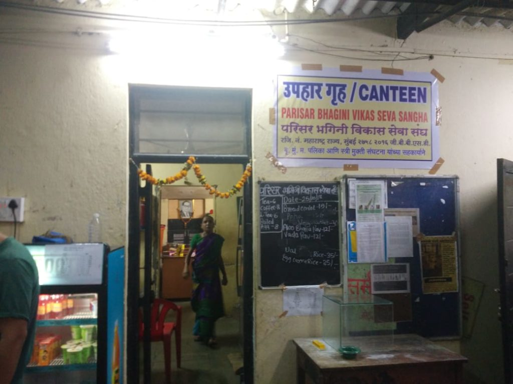 Figure 3: The Canteen in the Old (Main) Campus run by the Parisar Bhagini Vikas Sangh - a waste picker women's collective.