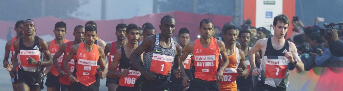 Delhi Race: Half marathon stays the course despite air pollution and smog