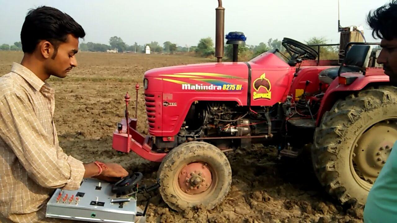 Driverless tractor by Yogesh Nagar