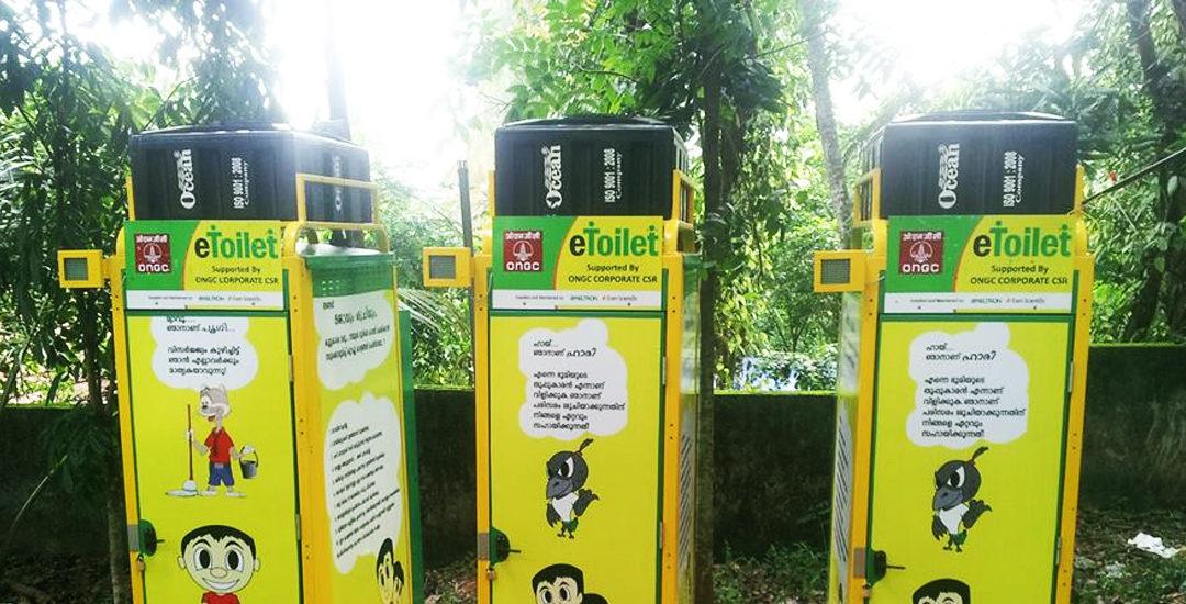 World's 1st solar eToilet creates power & fertilizer from waste in India