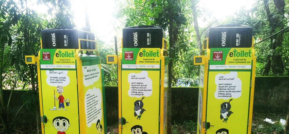 eToilet in India for Swachh Bharat Abhiyan in Kerala by Eram Solutions