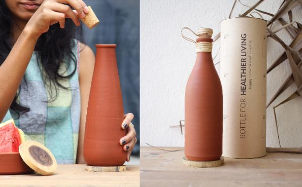 Wallistry Develops Clay Water Bottles that are 100% bio-degradable