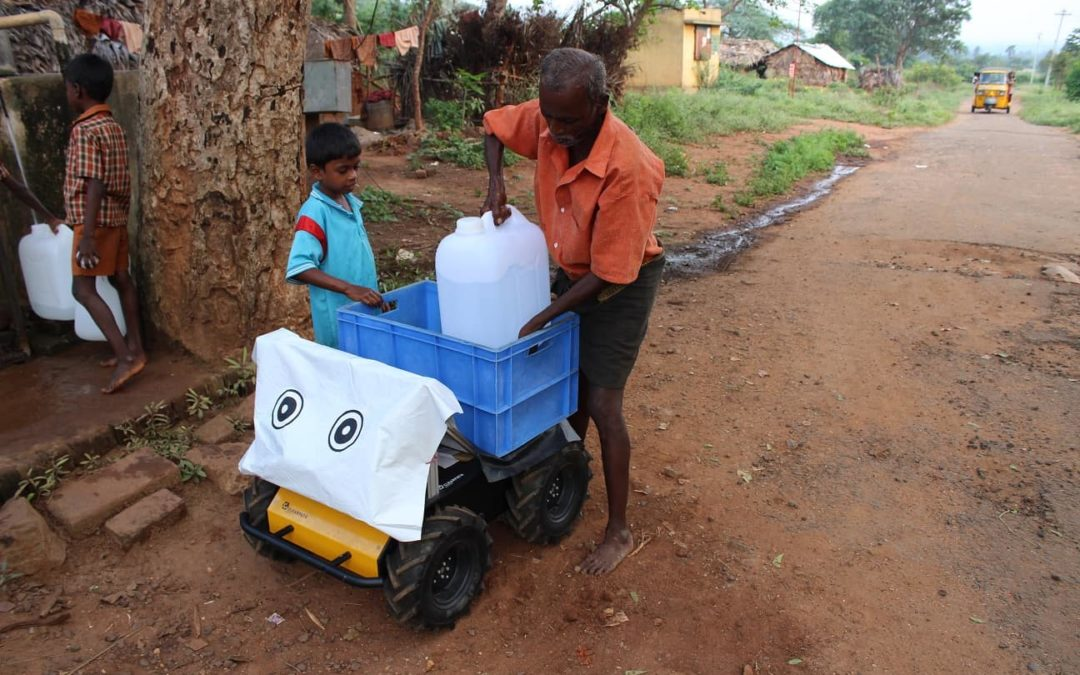 Husky Robot Delivers Water to Villagers in South India: Rural Innovations
